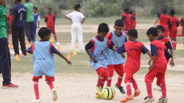 OVER 150 KIDS PARTICIPATED AS JAMSHEDPUR FC AND TSRDS ORGANISE A FOOTBALL FESTIVAL IN GORGORA
