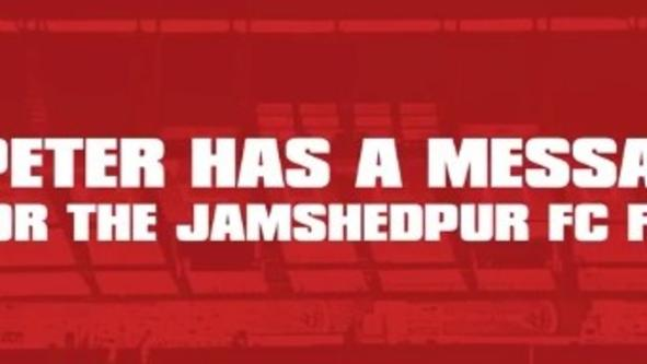 Peter Hartley Has a Message For The Jamshedpur FC Fans