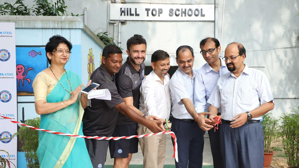 Jamshedpur FC successfully launched its seventh Football School in collaboration with Hill Top School