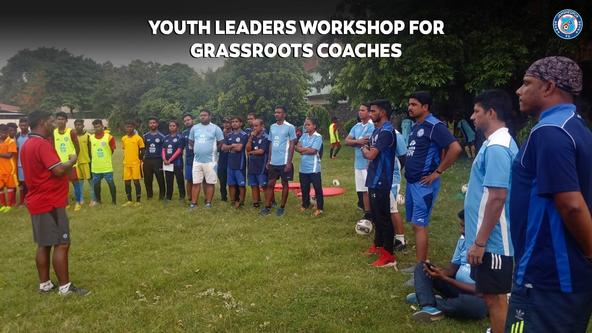 JAMSHEDPUR FC CONDUCTING A YOUTH LEADERS WORKSHOP FOR CURRENTLY EMPLOYED GRASSROOTS COACHES