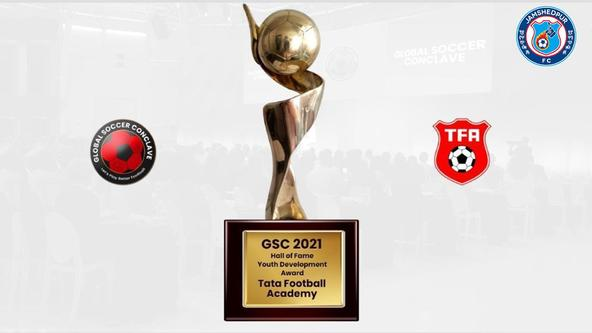 """Tata Football Academy (TFA) awarded """"The Hall of Fame – Youth Development Award"""" by Global Soccer Conclave"""