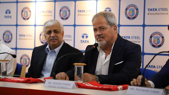 Antonio Iriondo's first press conference as Jamshedpur FC's head coach