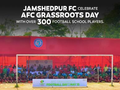 JAMSHEDPUR FC CELEBRATE AFC GRASSROOTS DAY, WITH OVER 300 SCHOOL FOOTBALLERS