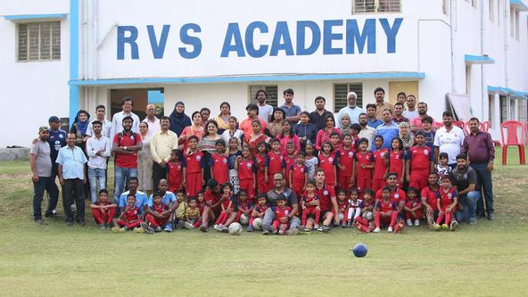 Pablo, Farukh and Augustin visit RVS Academy Football School for knowledge sharing
