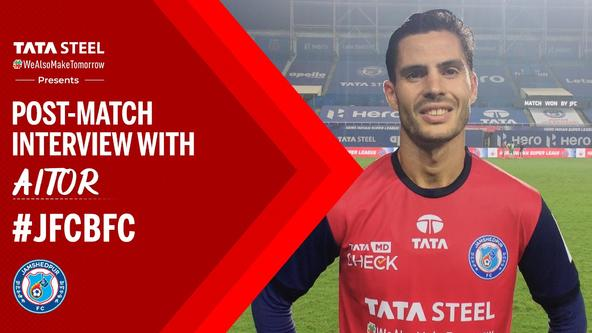 Post-match interview with Aitor Monroy - #JFCBFC