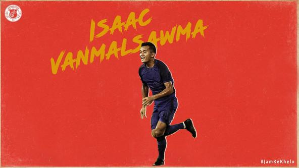 Isaac Vanmalsawma signs for Jamshedpur Football Club